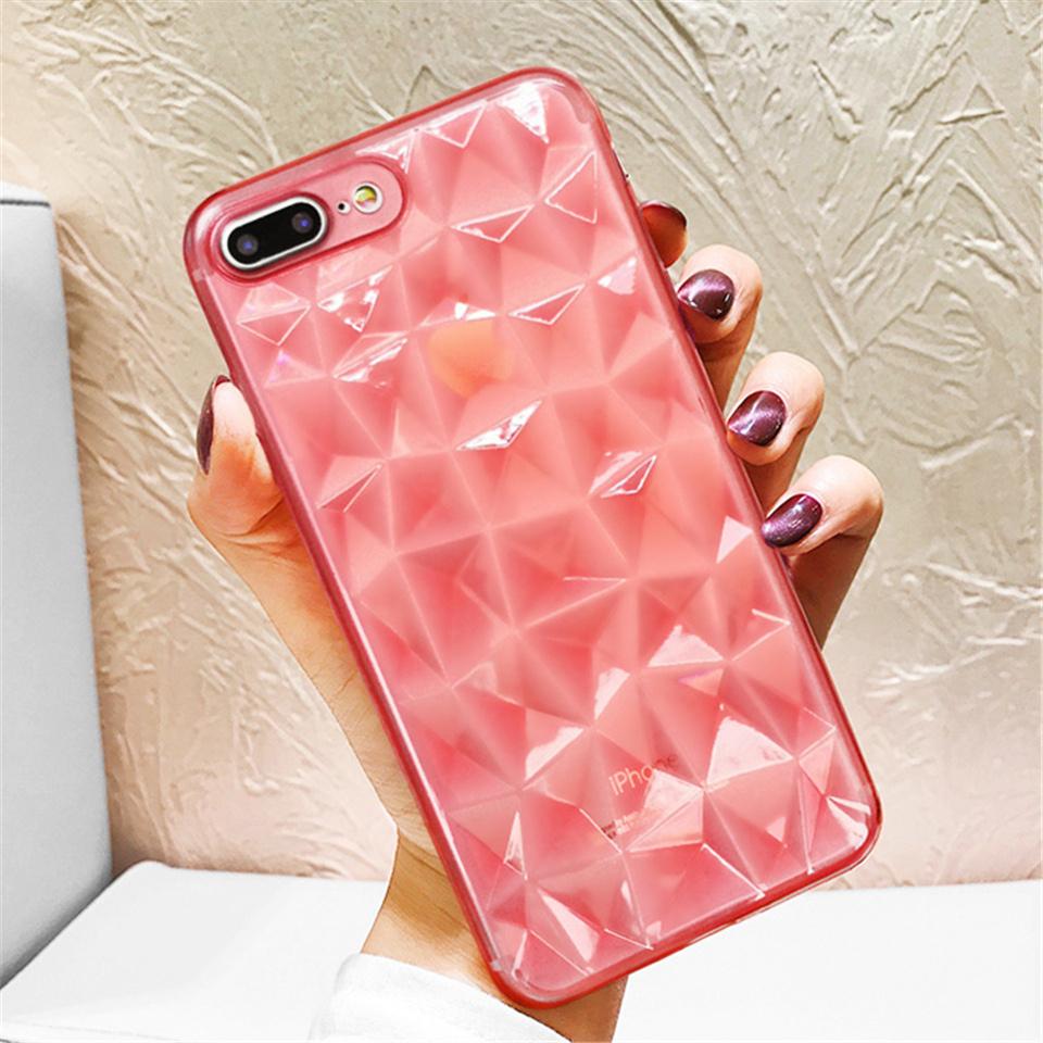Transparent Diamond Textured Case for iPhone