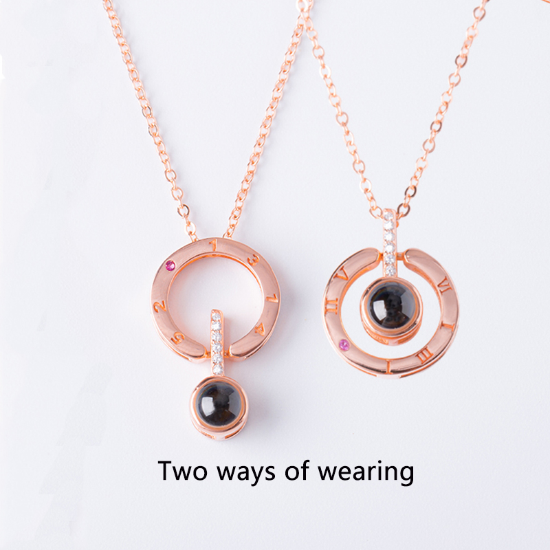 2018-New-Arrival-Rose-Gold-Silver-100-languages-I-love-you-Projection-Pendant-Necklace-Romantic-Love (1)